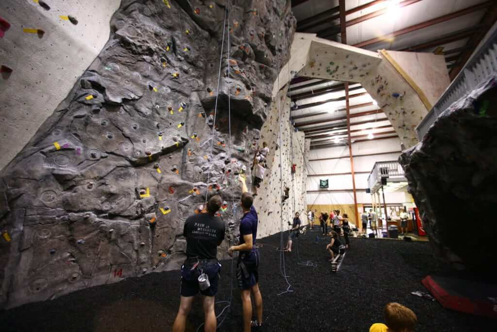 Indoor bouldering at Kendall Cliffs